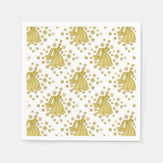 Angel gold white disposable napkin
