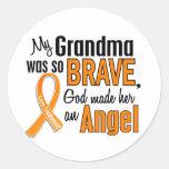 Angel Grandma Leukaemia Round Sticker