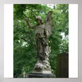 Angel Gravestone Poster
