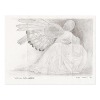 Angel Grounded Postcard