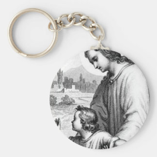 Angel Guarding A Child Keychain