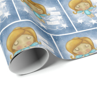 Angel Hangs the Stars Wrapping Paper
