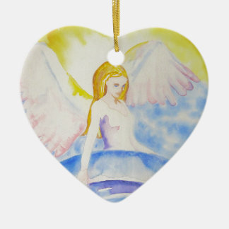 Angel Healing the Planet Heart Ornament