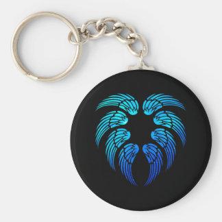 Angel Heart Basic Round Button Keychain