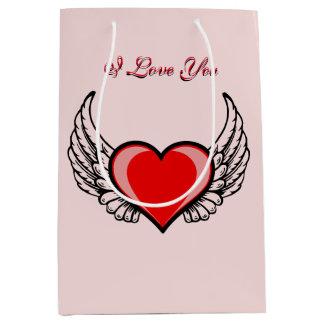 Angel Heart Medium Gift Bag