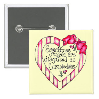 Angel Heart Scrapbooker Tshirts and Gifts Pinback Button