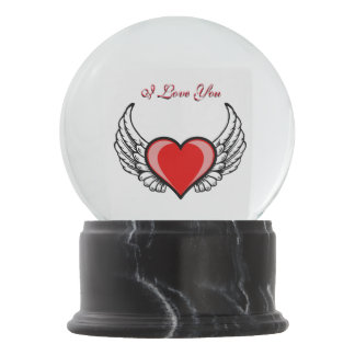 Angel Heart Snow Globe
