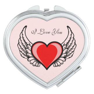 Angel Heart Travel Mirrors