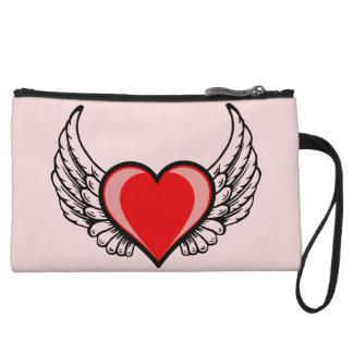 Angel Heart Wristlet