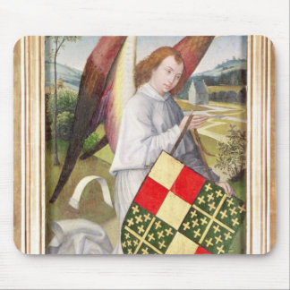 Angel holding a shield mouse pad