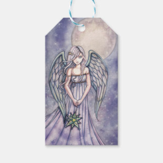 Angel Holding Star Ornament Fantasy Art Pack Of Gift Tags
