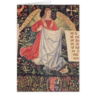Angel holding the shroud card