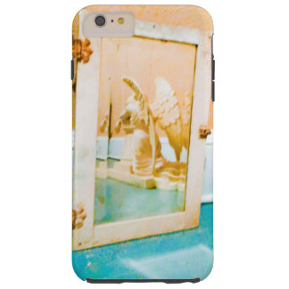 ANGEL IN AN VINTAGE MIRROR TOUGH iPhone 6 PLUS CASE