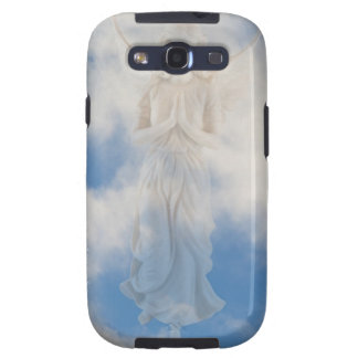 Angel in blue heaven cloudy sky by healing love galaxy SIII cover