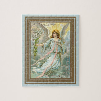 Angel In Blue Jigsaw Puzzle