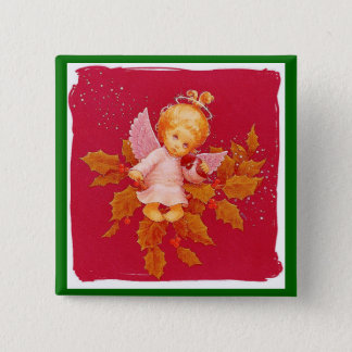 Angel In Christmas 2 Inch Square Button
