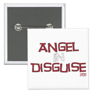 Angel in Disguise 2 Inch Square Button