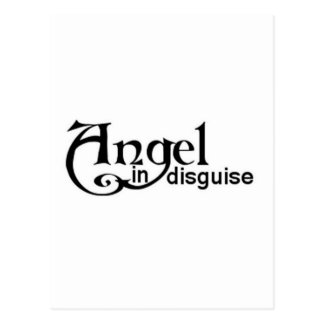 Angel in disguise postcard