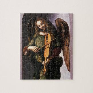 Angel in Green with a Vielle by Leonardo da Vinci Jigsaw Puzzle