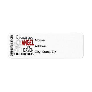 Angel In Heaven Dad Lung Cancer Return Address Label