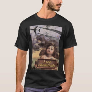 Angel in Madonna of Foligno sees chemtrails T-Shirt