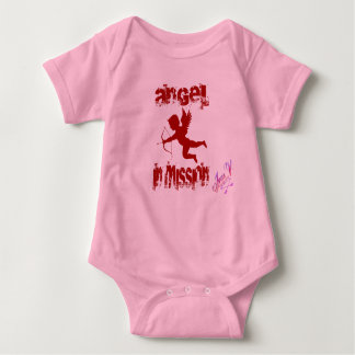 Angel in mission baby bodysuit