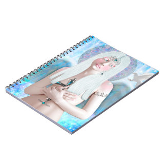 Angel in notebook of spiral of 80 pages