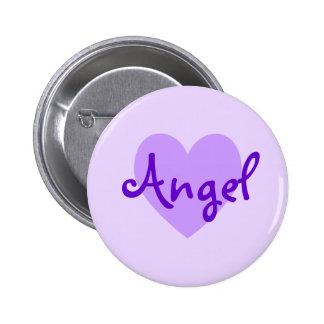 Angel in Purple 2 Inch Round Button