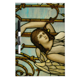 Angel In Stained Glass Dry Erase White Board