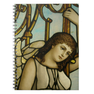 Angel In Stained Glass Spiral Notebooks