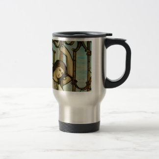 Angel In Stained Glass Travel Mug