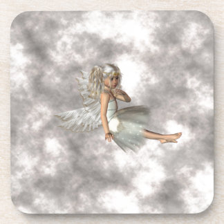 Angel in the Clouds Beverage Coasters