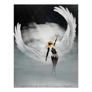 Angel In the Clouds By Michelle Wilder Poster