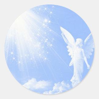 Angel In The Clouds Round Sticker