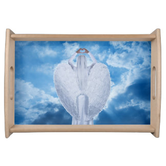 Angel in the clouds serving tray