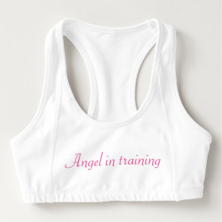 Angel in training sports bra