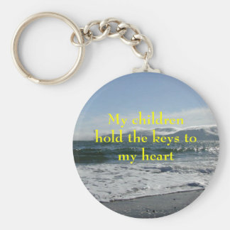 angel_island, My childrenhold the keys to my heart Keychain