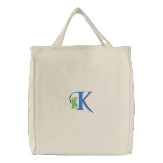 Angel K Embroidered Tote Bag