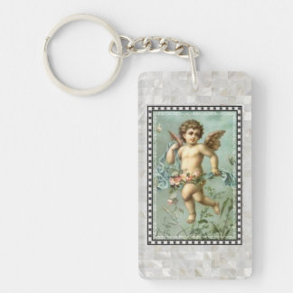 Angel keychain - Rectangle (double-sided)