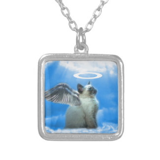 Angel Kitten Gifts Silver Plated Necklace