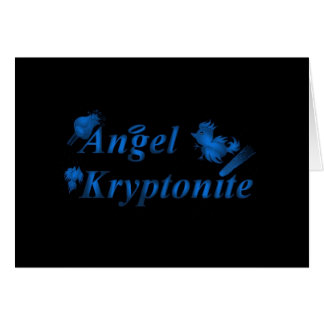 Angel kryptonite logo card