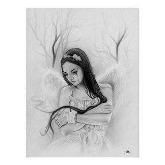 Angel Lost Sad Crying emotional POSTER