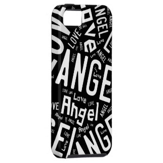 Angel Love Dove, Black and White Typography iPhone 5 Cover