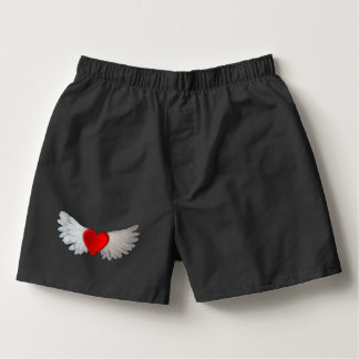 Angel Love Wings Red Heart Boxer Boxers