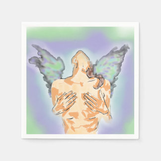 ANGEL LUST NAPKIN ART PRINT DISPOSABLE NAPKINS