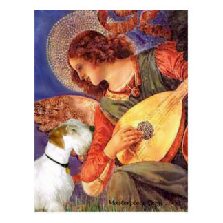 Angel & Mandolin - Sealyham Terrier Postcard