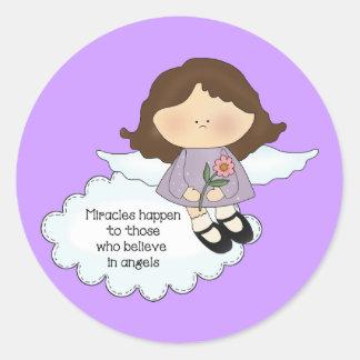 Angel Miracles Round Sticker
