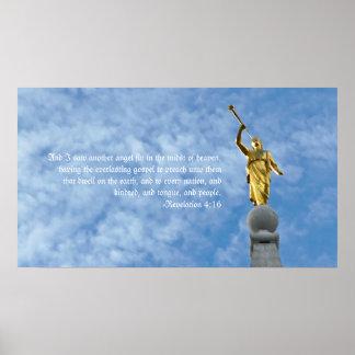 Angel Moroni on Salt Lake Temple Poster