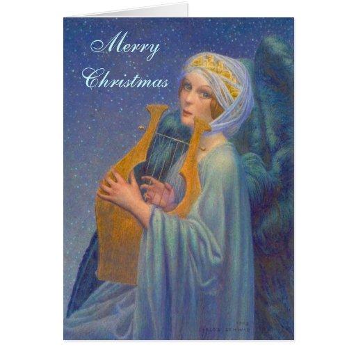 Angel Music Christmas Card