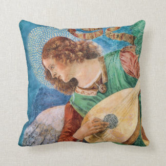 Angel Musician with Lute American MoJo Pillows